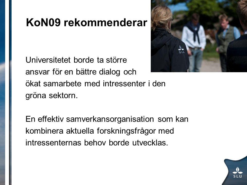 KoN09 rekommenderar