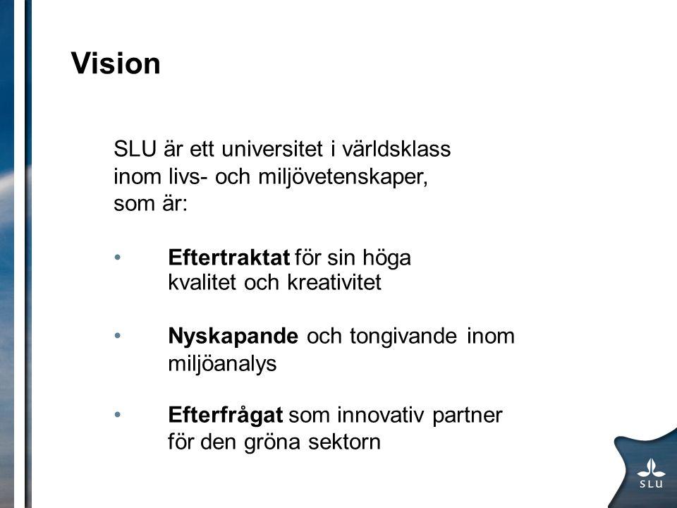 Vision SLU är ett universitet i världsklass