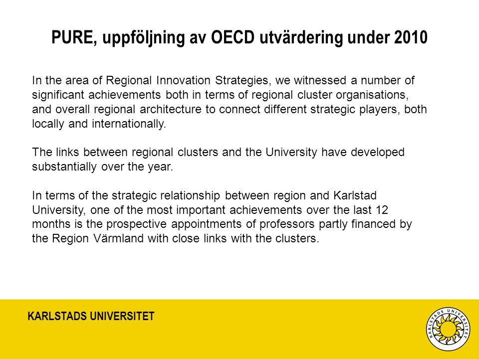 PURE, uppföljning av OECD utvärdering under 2010