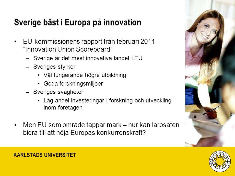 Sverige bäst i Europa på innovation