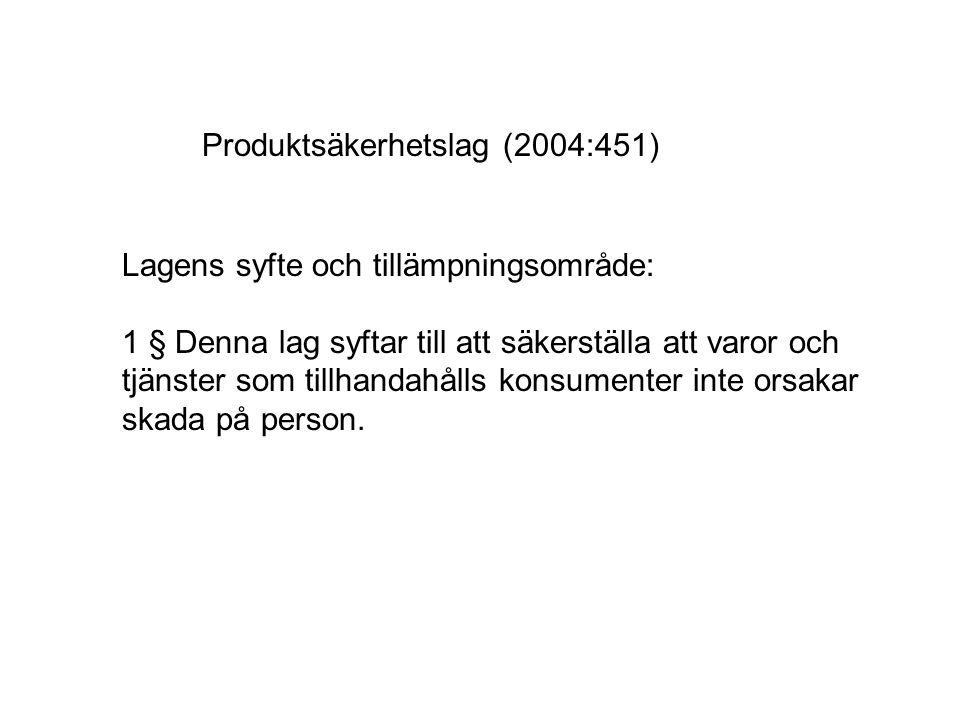 Produktsäkerhetslag (2004:451)