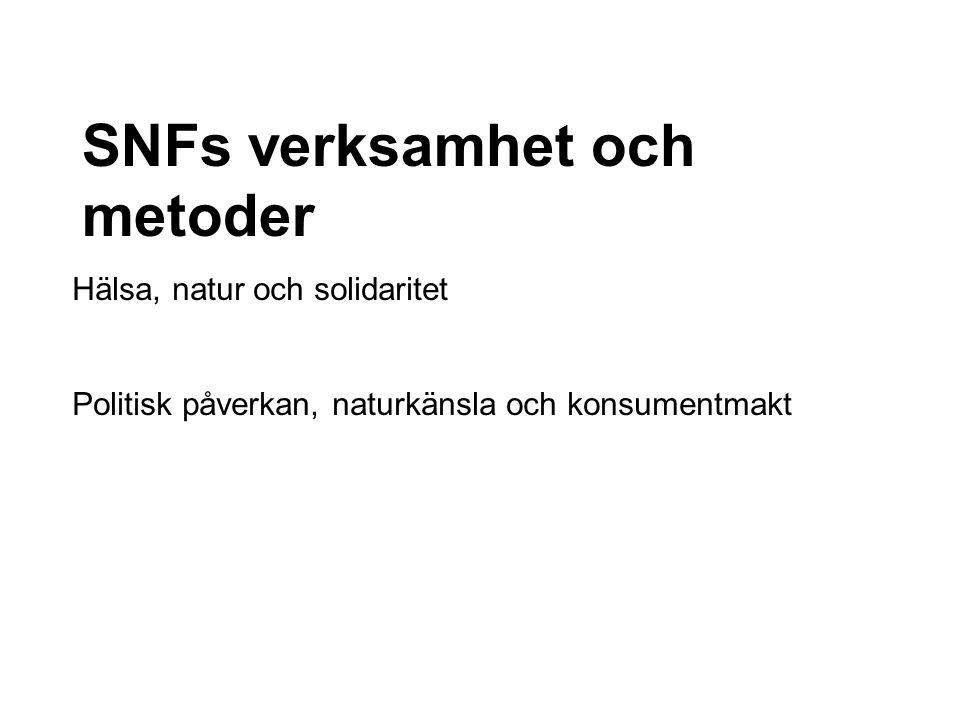 SNFs verksamhet och metoder