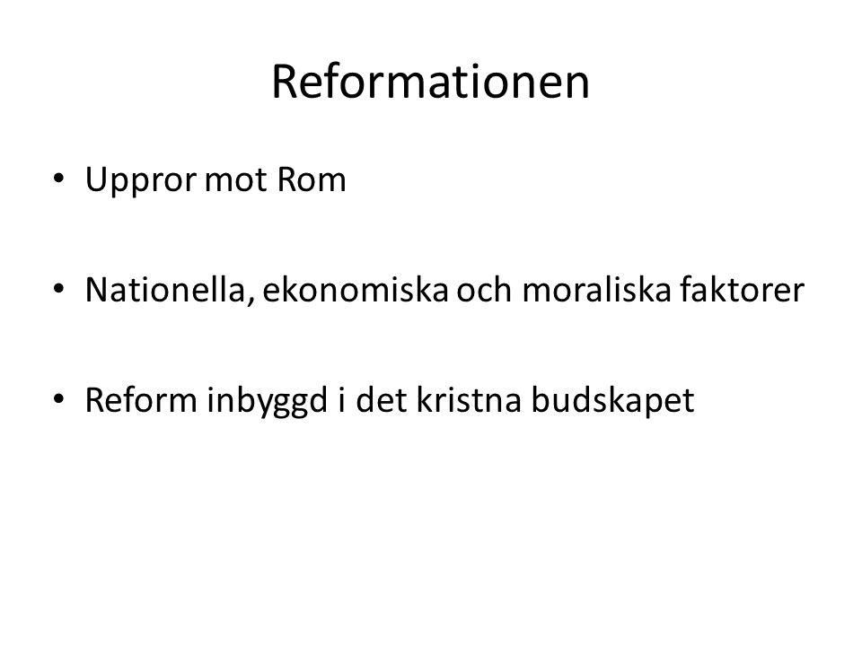 Reformationen Uppror mot Rom