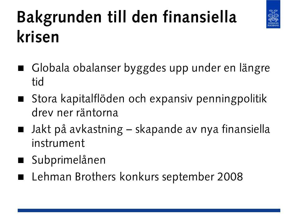 Bakgrunden till den finansiella krisen