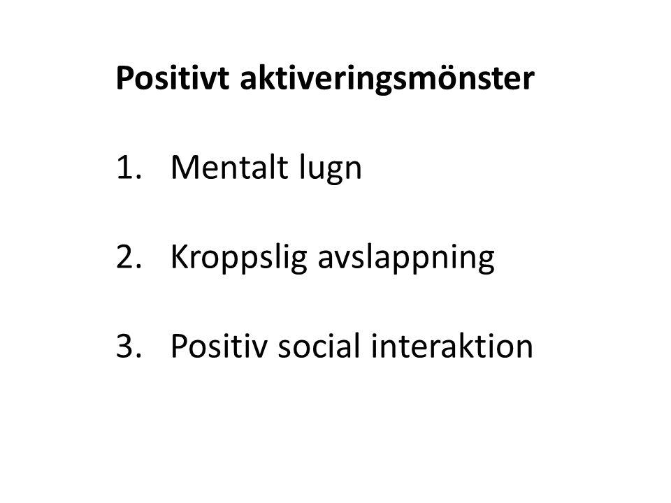 Positivt aktiveringsmönster