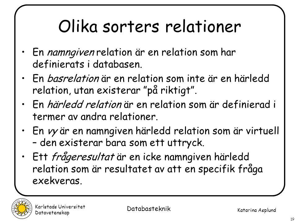 Olika sorters relationer