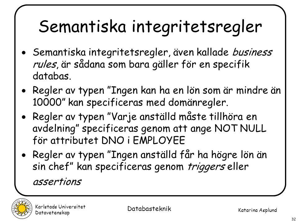 Semantiska integritetsregler