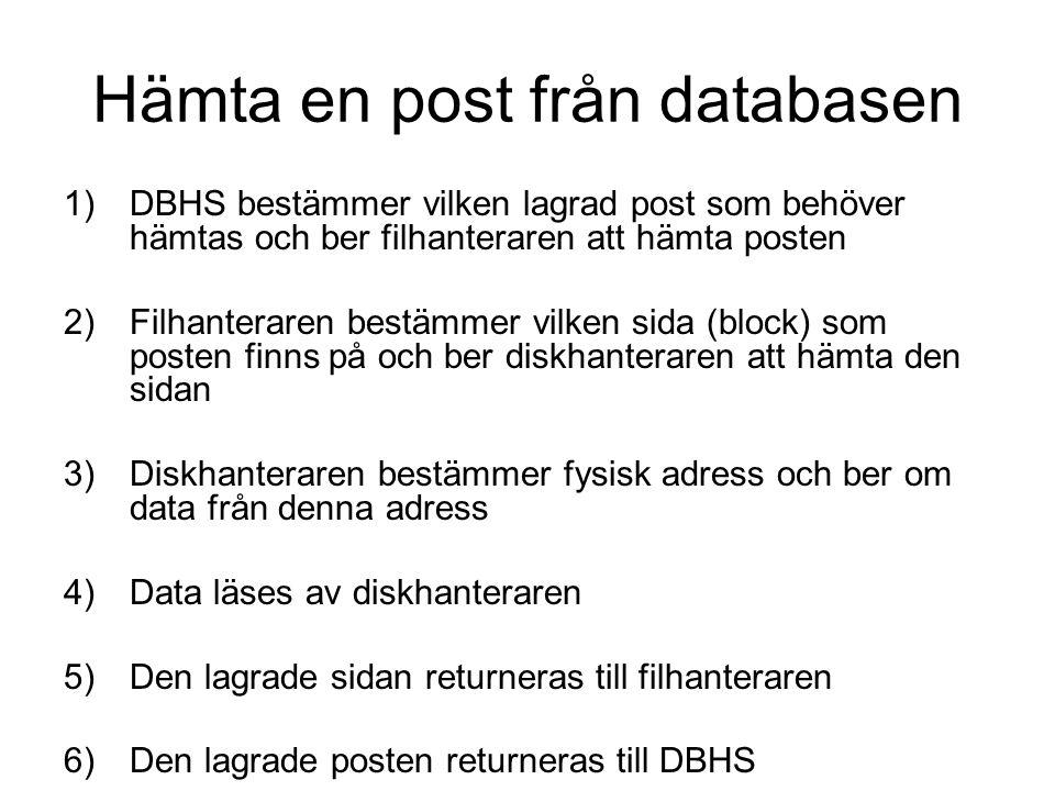 Hämta en post från databasen