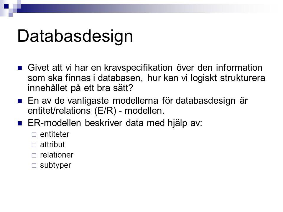 Databasdesign