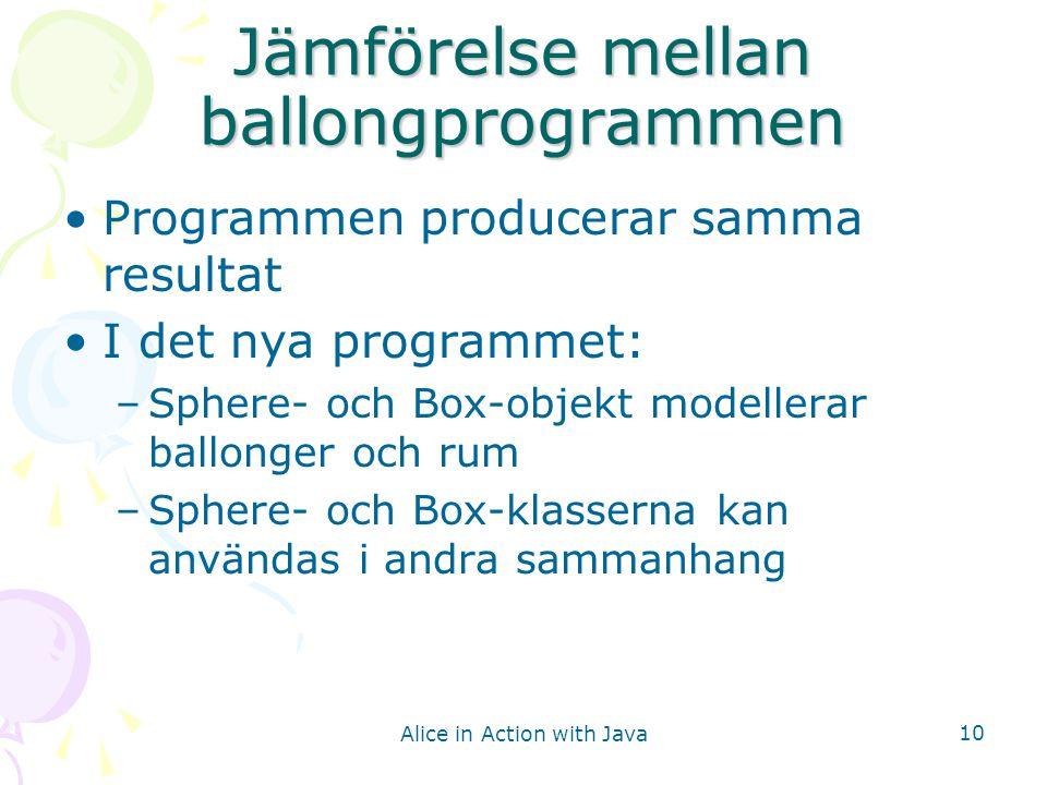 Jämförelse mellan ballongprogrammen