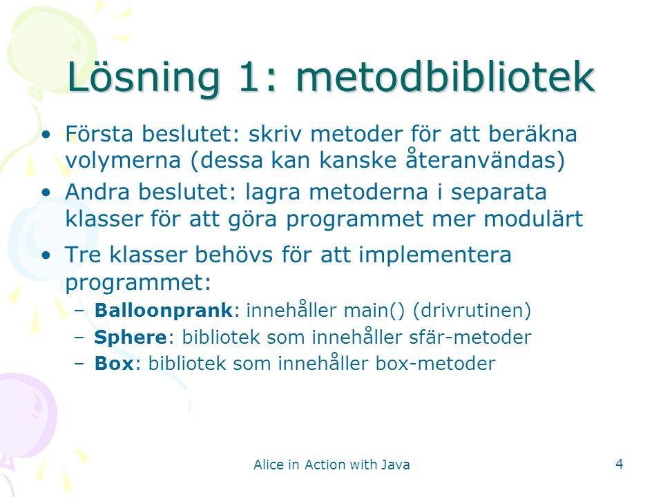 Lösning 1: metodbibliotek