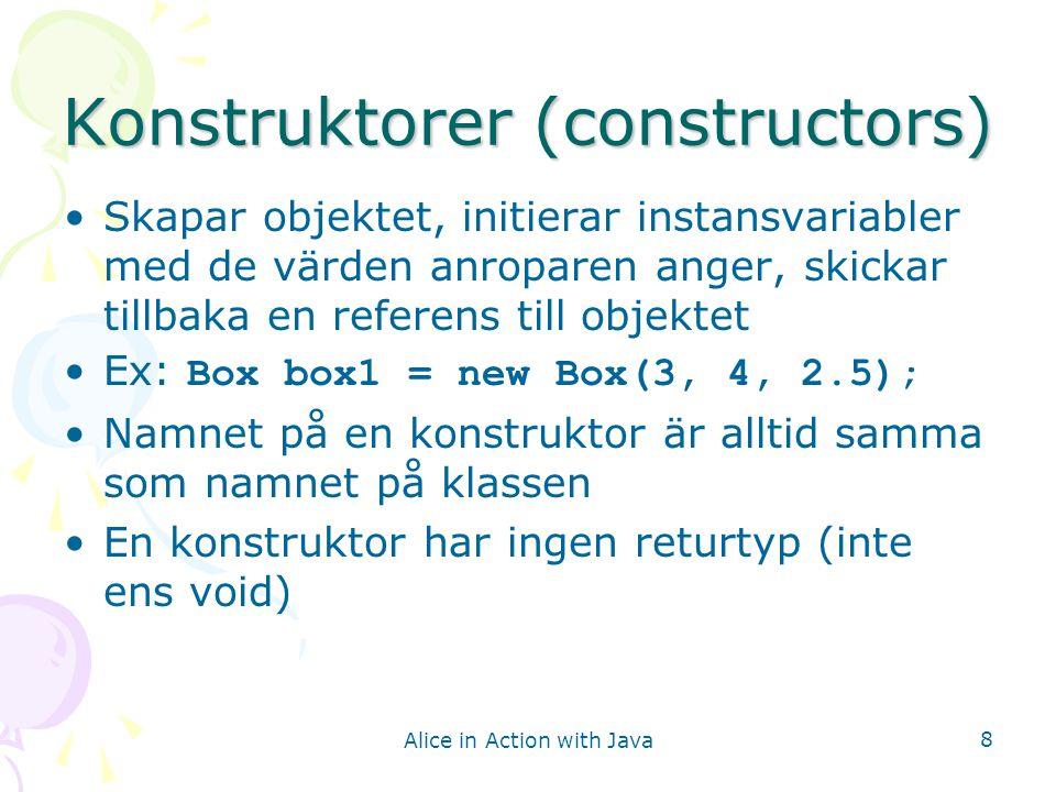 Konstruktorer (constructors)