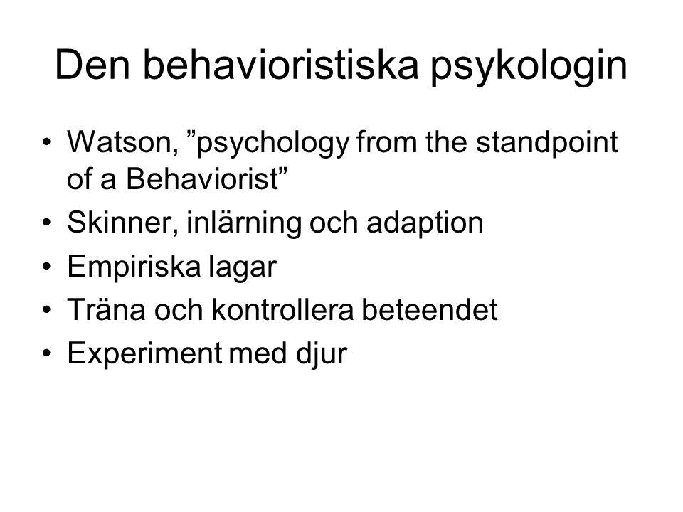 Den behavioristiska psykologin