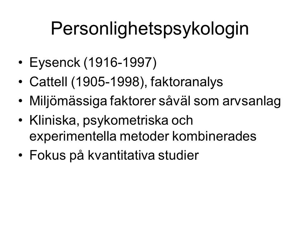 Personlighetspsykologin