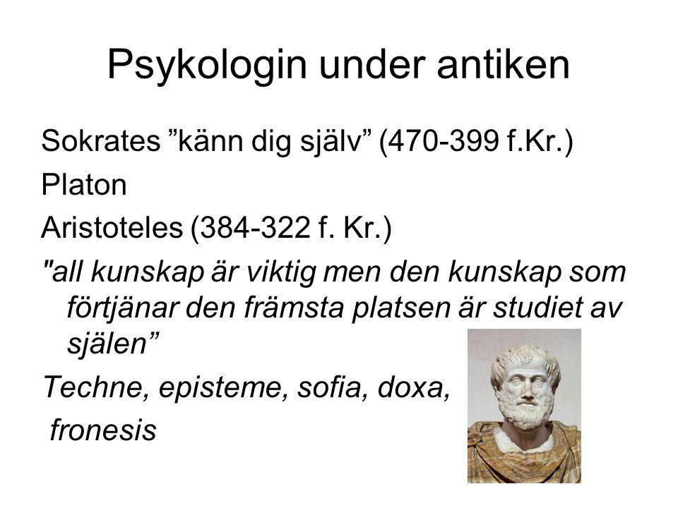 Psykologin under antiken