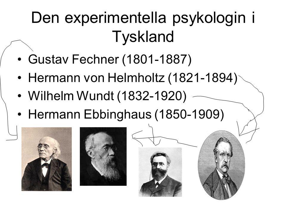 Den experimentella psykologin i Tyskland