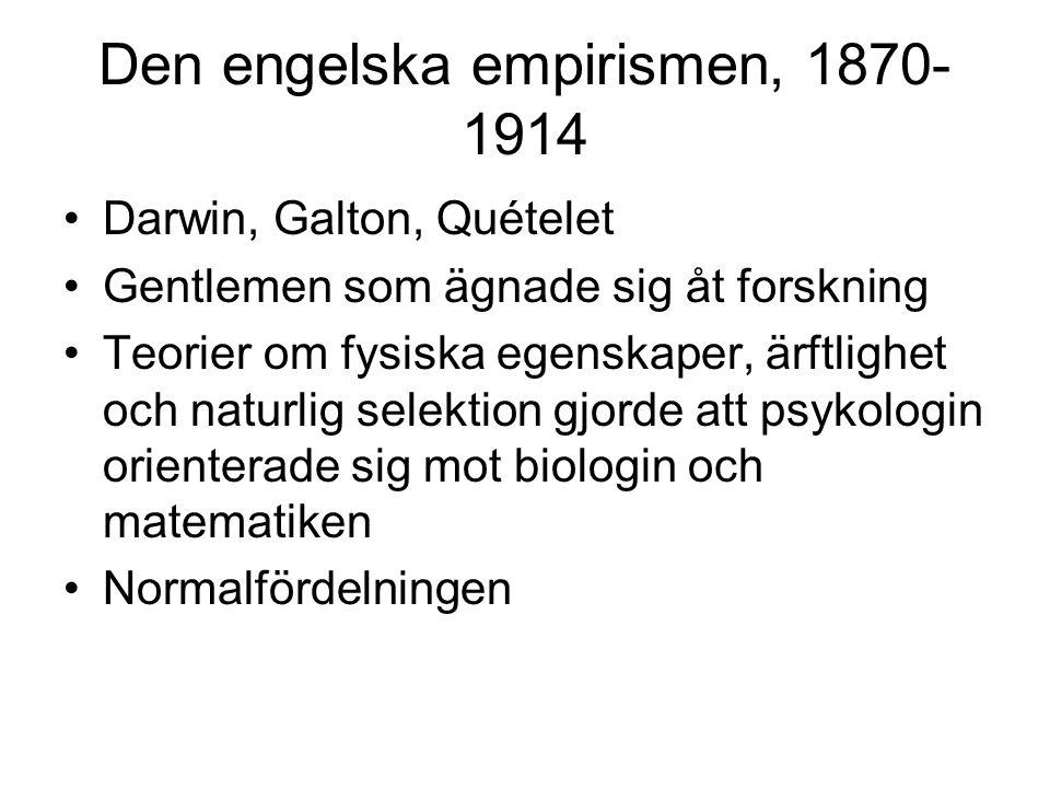 Den engelska empirismen, 1870-1914
