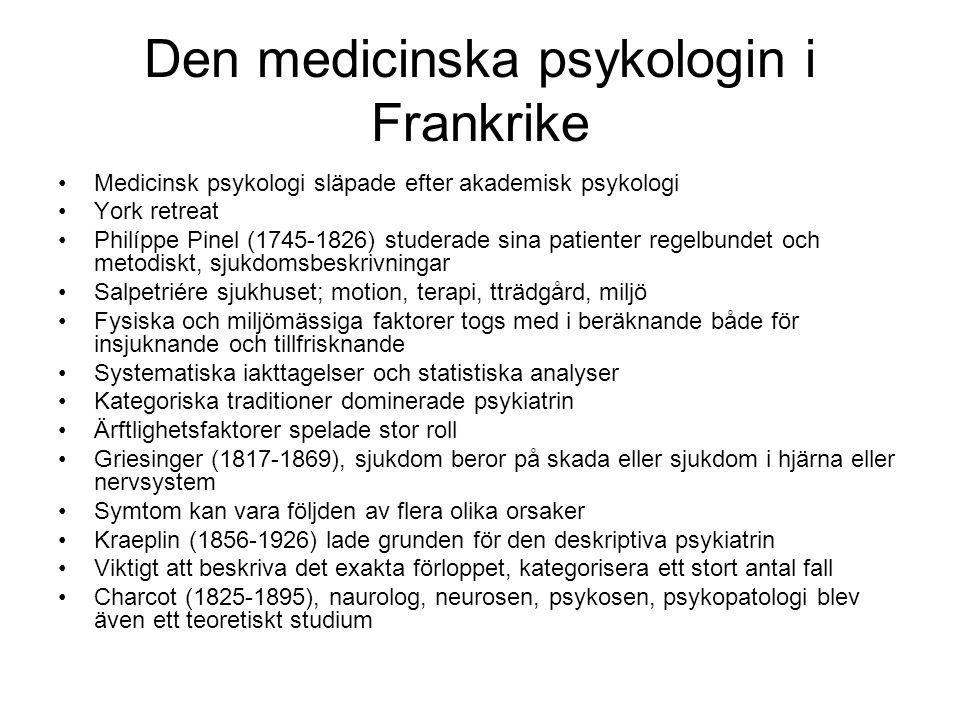 Den medicinska psykologin i Frankrike