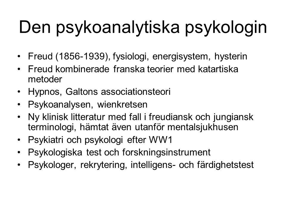 Den psykoanalytiska psykologin