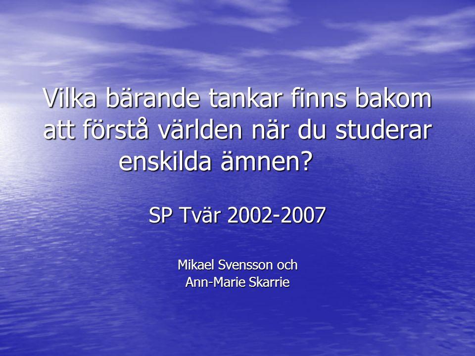 SP Tvär 2002-2007 Mikael Svensson och Ann-Marie Skarrie
