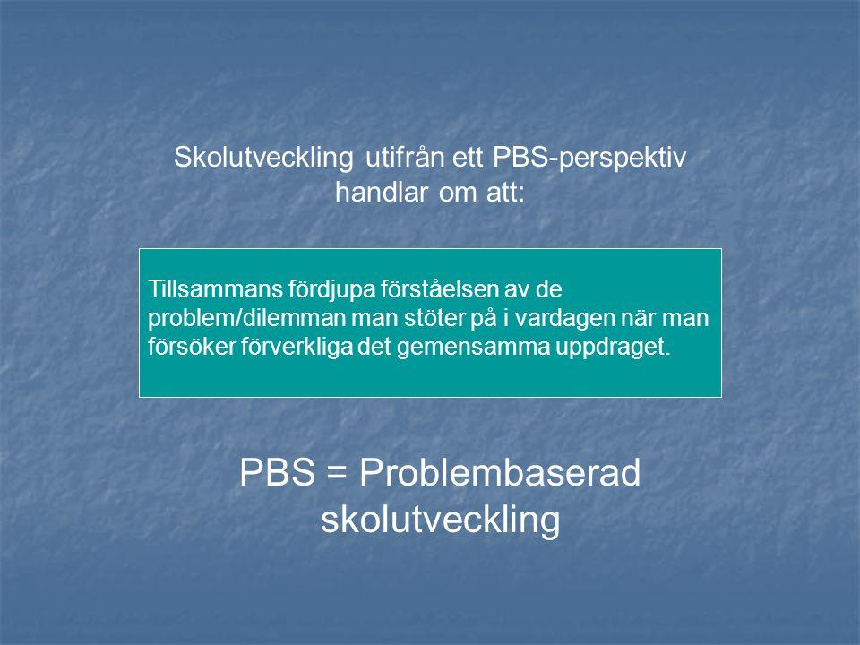 PBS = Problembaserad skolutveckling