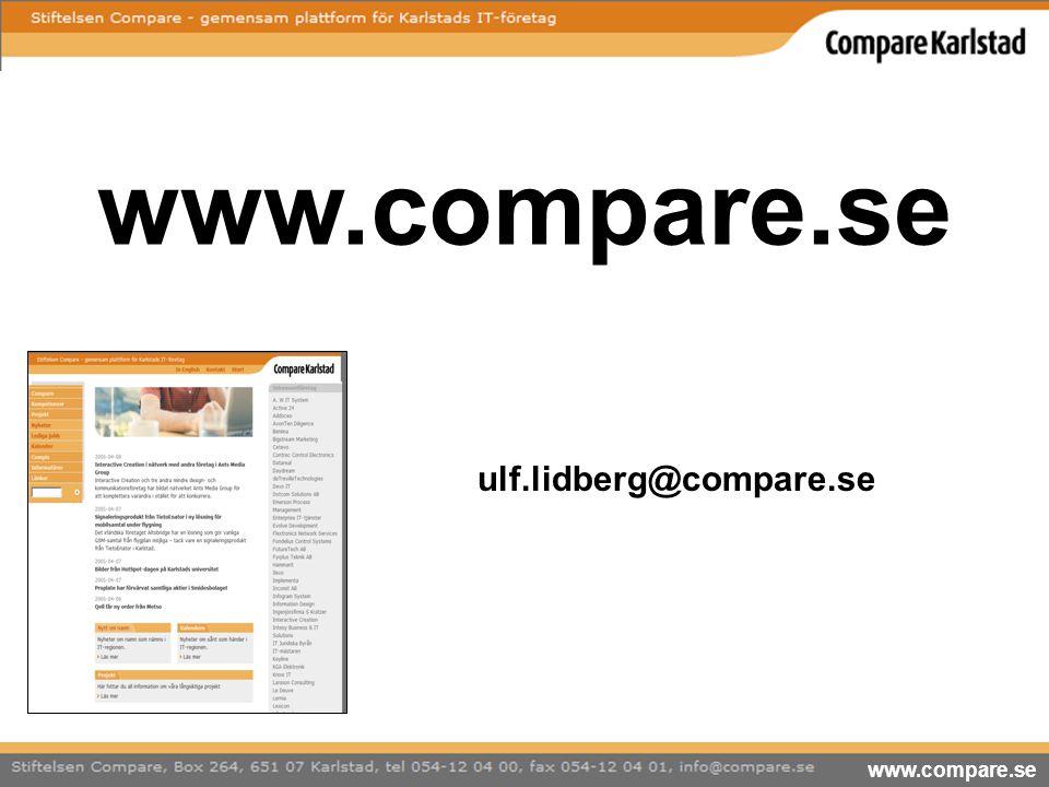 www.compare.se ulf.lidberg@compare.se www.compare.se 11