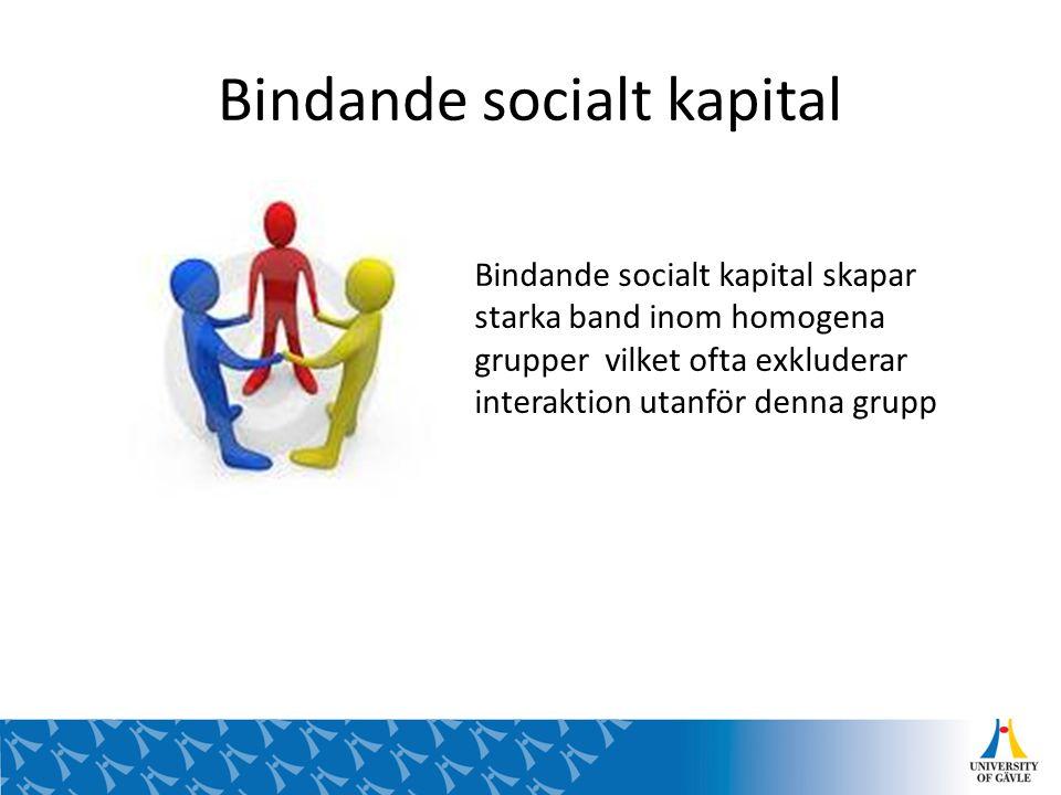 Bindande socialt kapital