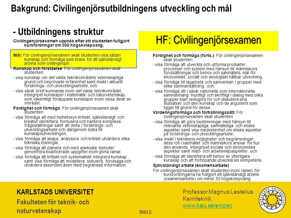HF: Civilingenjörsexamen