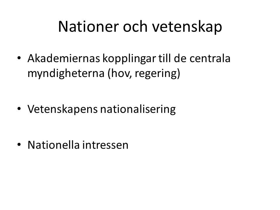 Nationer och vetenskap