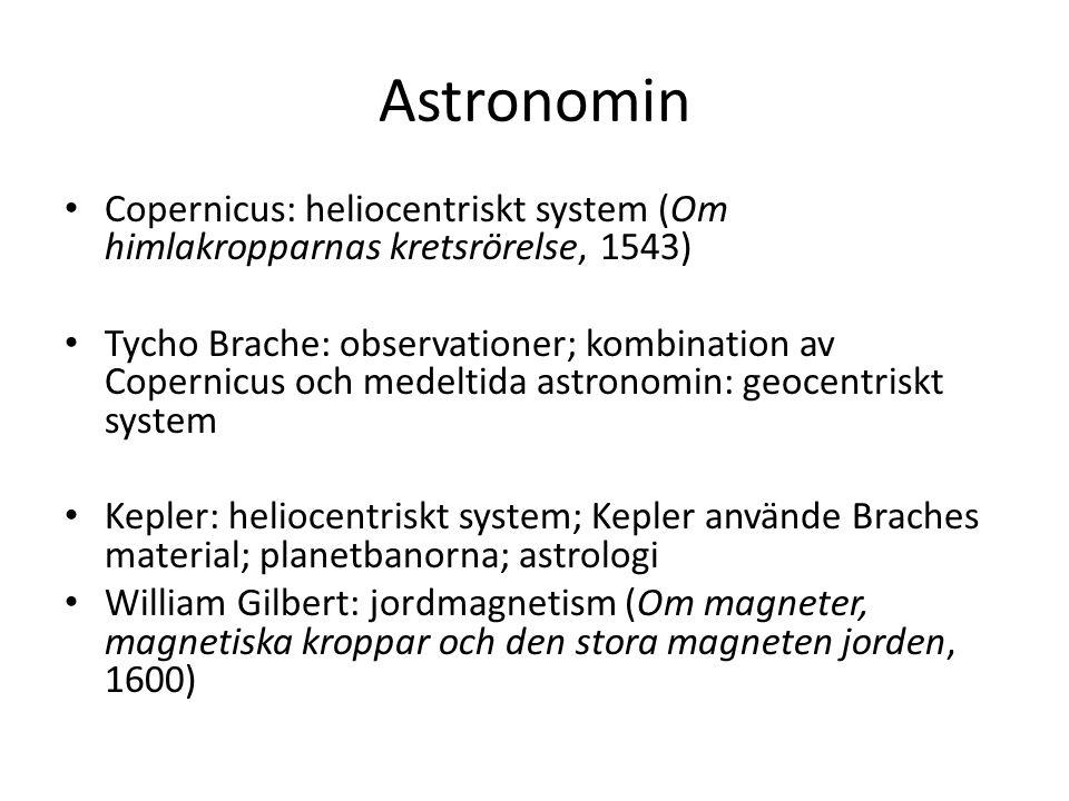 Astronomin Copernicus: heliocentriskt system (Om himlakropparnas kretsrörelse, 1543)