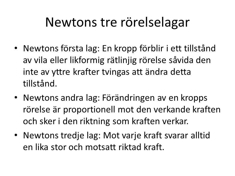 Newtons tre rörelselagar