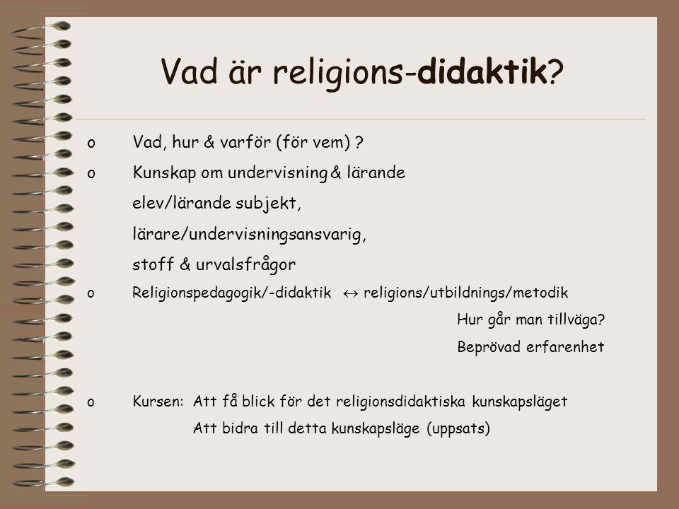Vad är religions-didaktik