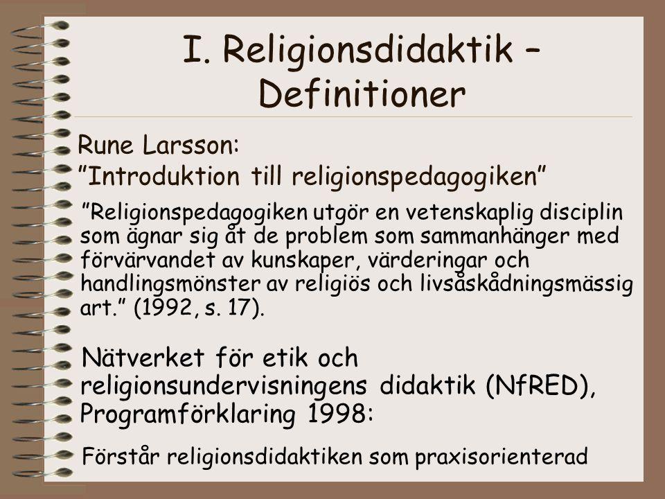 Rune Larsson: Introduktion till religionspedagogiken