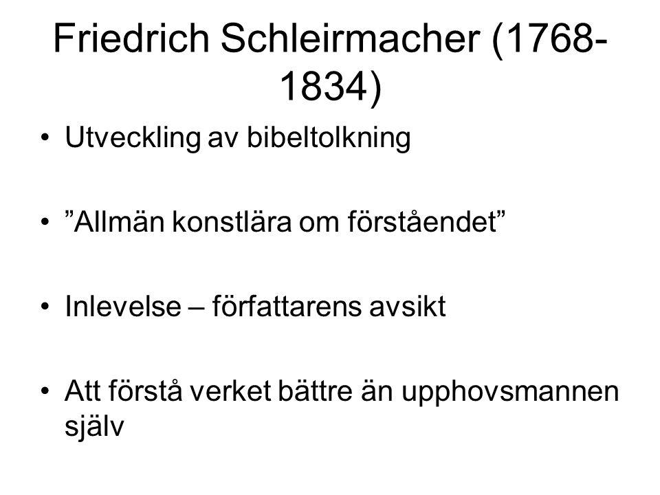 Friedrich Schleirmacher (1768-1834)
