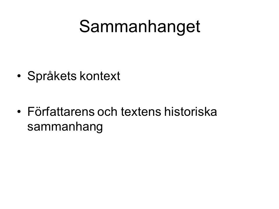 Sammanhanget Språkets kontext