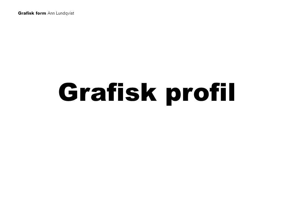 Grafisk profil