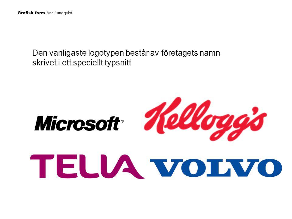 Den vanligaste logotypen består av företagets namn skrivet i ett speciellt typsnitt