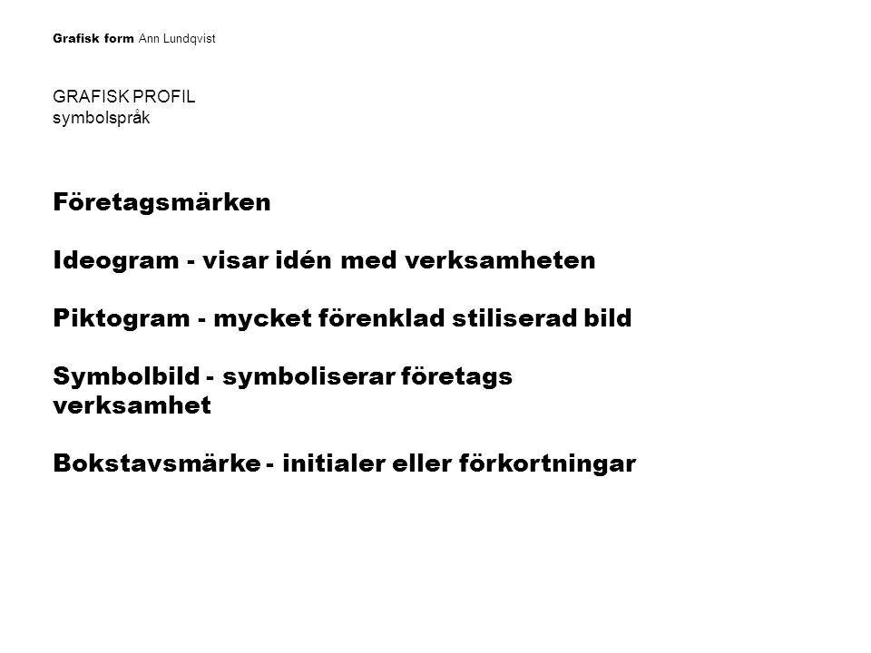 Ideogram - visar idén med verksamheten