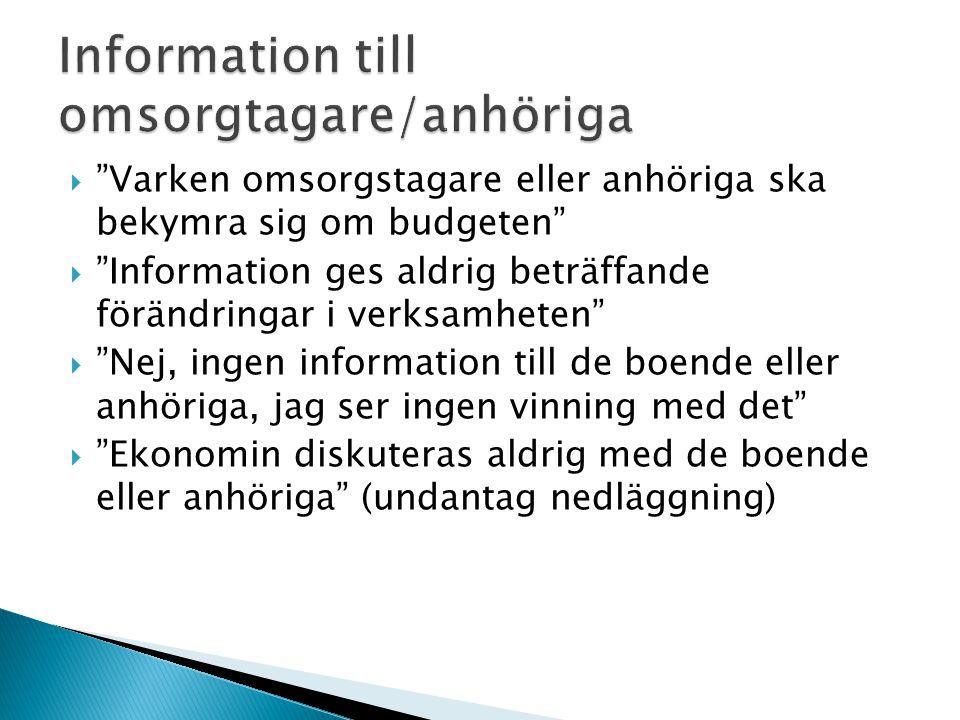 Information till omsorgtagare/anhöriga