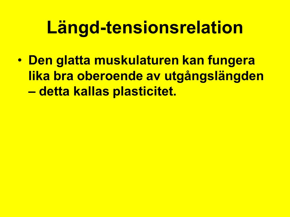 Längd-tensionsrelation