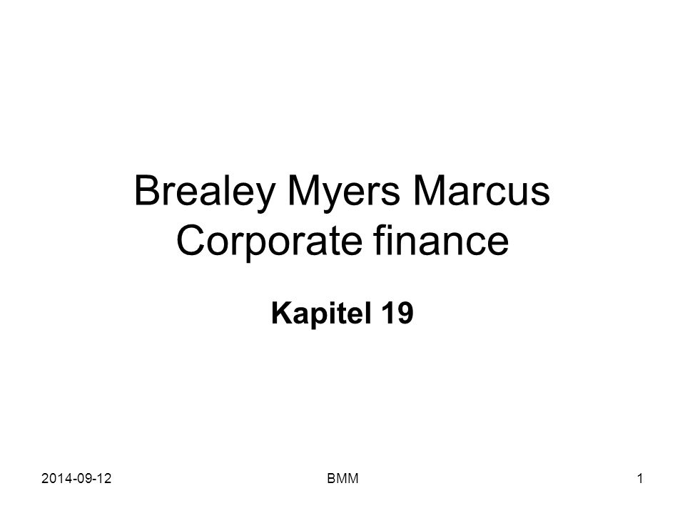 Brealey Myers Marcus Corporate finance