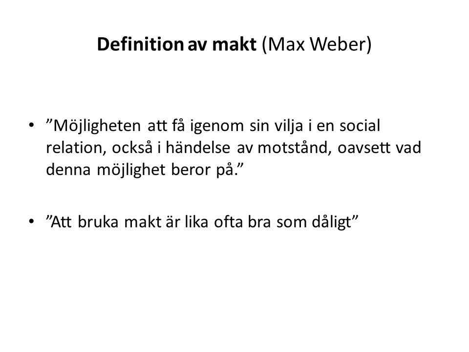 Definition av makt (Max Weber)