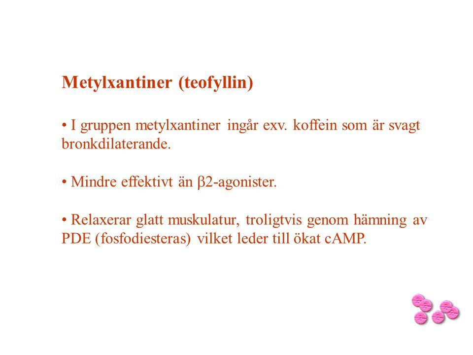 Metylxantiner (teofyllin)