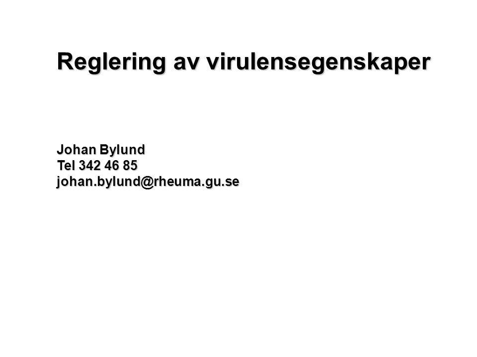 Reglering av virulensegenskaper