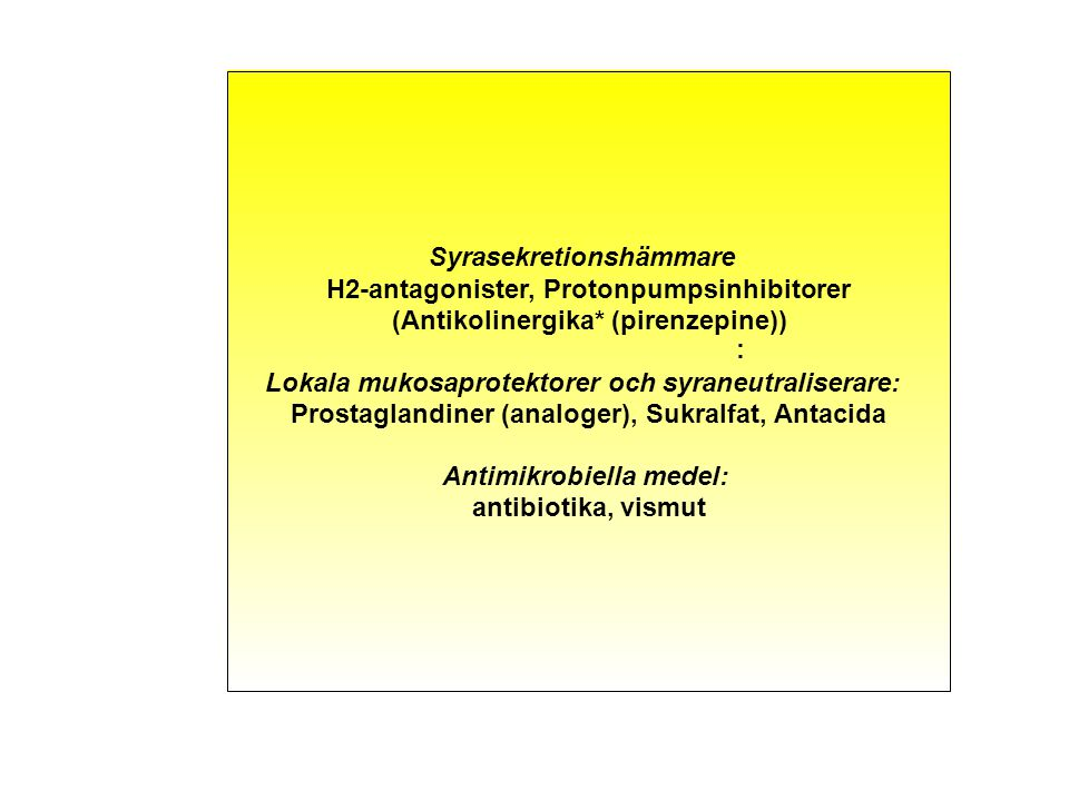 Funktionell dyspepsi Ulcus Histamin-2-receptorblockerare