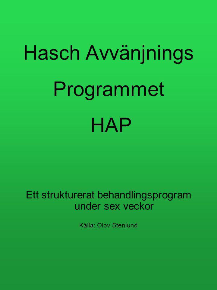 Hasch Avvänjnings Programmet HAP