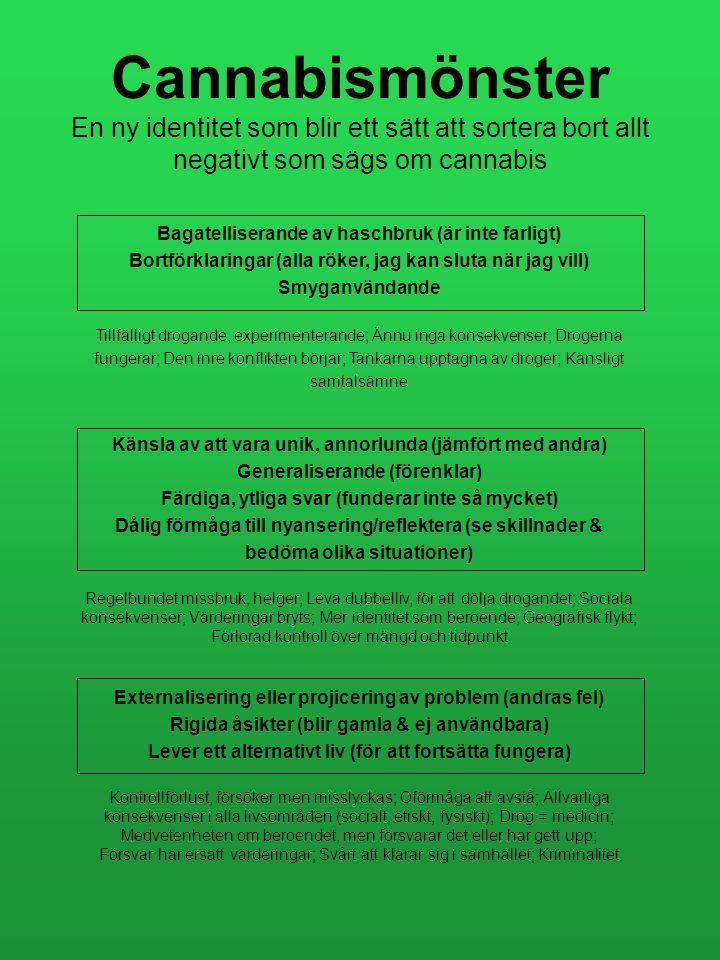 Cannabismönster En ny identitet som blir ett sätt att sortera bort allt negativt som sägs om cannabis