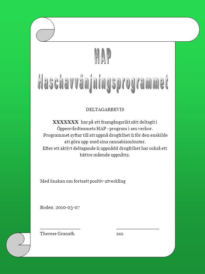 Haschavvänjningsprogrammet