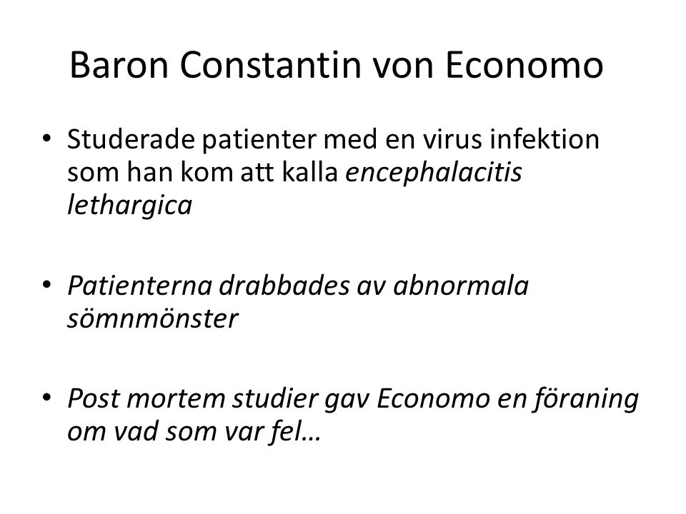 Baron Constantin von Economo