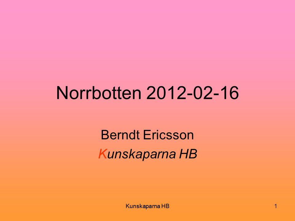 Berndt Ericsson Kunskaparna HB
